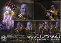 GOGOTOYS Thanos Battle Damage Full Set Accessories