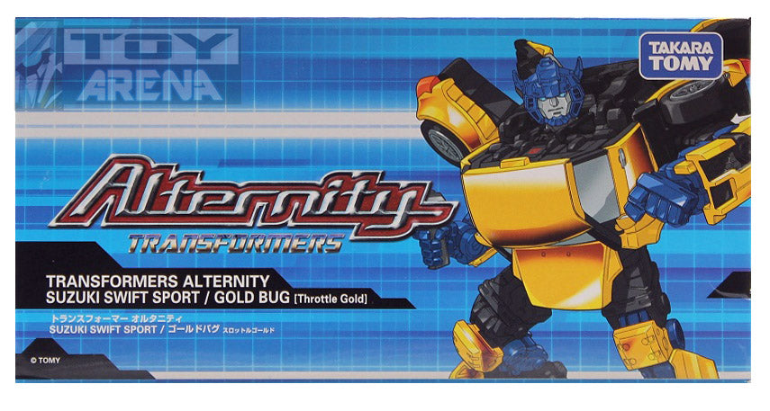 Transformers Alternity A-03 Gold Bug Suzuki Swift Sport [Throttle Gold] Asia Exclusive