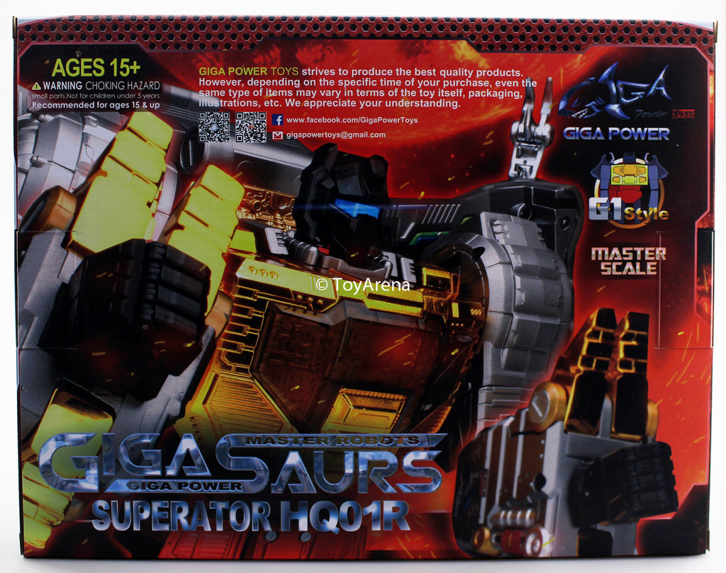 Gigapower HQ-01R Superator Chrome Ver Action Figure