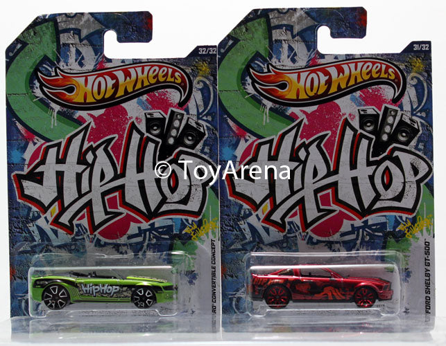 Hot Wheels Jukebox Hip Hop Camaro Convertible Concept & '07 Ford Shelby GT-500 Wal-Mart Exclusive 2013