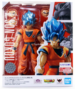 S.H. Figuarts Dragon Ball Super Saiyan God Super Saiyan Goku Blue Action Figure