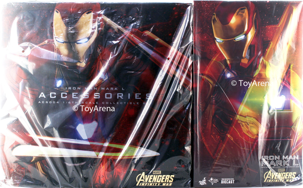 Hot Toys 1/6 Iron Man Mark L (MK 50) Accessory Set and Figure Marvel Avengers: Infinity War Diecast Sixth Scale MMS473-D23 & ACS004