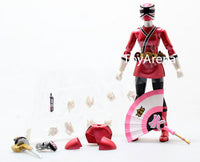 LOOSE Pink from S.H. Figuarts Power Rangers Super Samurai Metallic Coating Deluxe Action Figure Set SDCC 2013