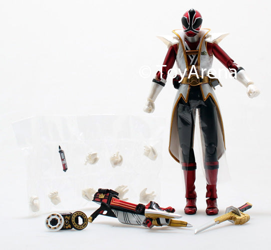 LOOSE Red from S.H. Figuarts Power Rangers Super Samurai Metallic Coating Deluxe Action Figure Set SDCC 2013