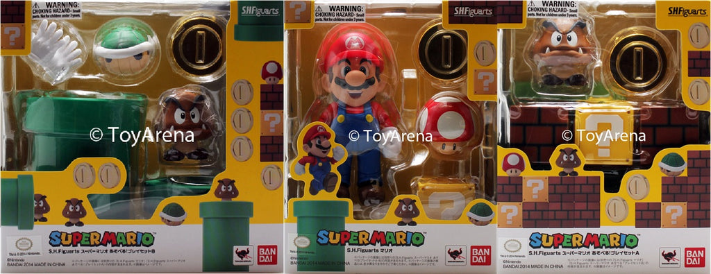 S.H. Figuarts Super Mario Bros. Action Figure BUNDLE