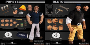 Mezco Toys One:12 Collective: Popeye & Bluto: Stormy Seas Ahead Deluxe Box Set Action Figure