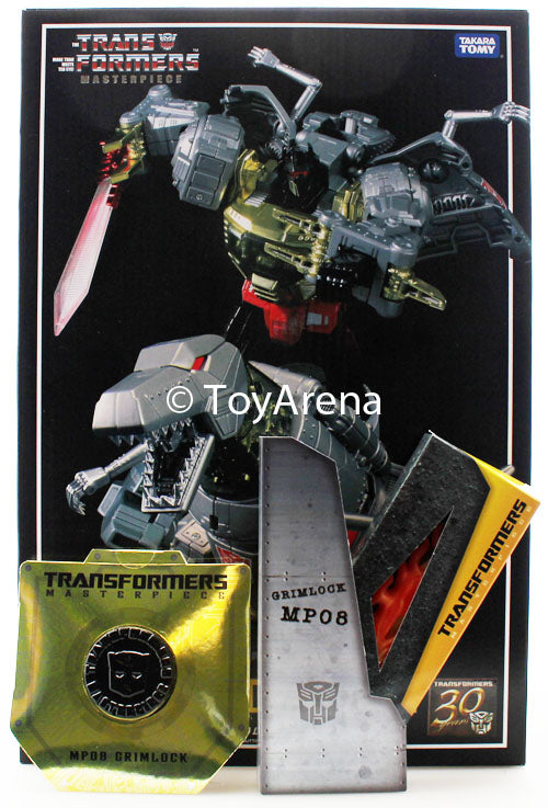 Transformers Masterpiece MP-08 Grimlock WITH Flame Sword and Coin
