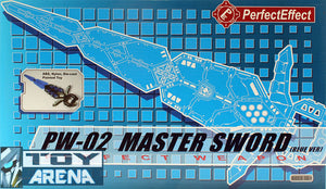 Perfect Effect PW-02 Master Sword for Transformers Encore 23 Fortress Maximus