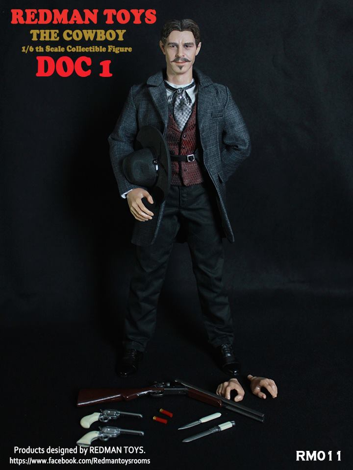 Redman Toys 1/6 Doc 1 The Cowboy Tombstone Doc Holliday Val Kilmer Sixth Scale Figure RM011
