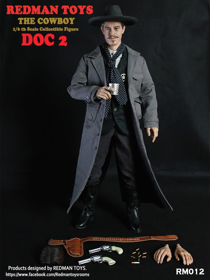 Redman Toys 1/6 Doc 2 The Cowboy Tombstone Doc Holliday Val Kilmer Sixth Scale Figure RM012