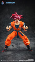 Demoniacal Fit Possessed Horse Hair Piece for Super Saiyan God Goku/ Vegeta Red
