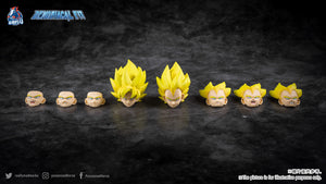 Demoniacal Fit Possessed Horse Solid Color Hair SS Super Saiyan (Yellow) for Goku and Vegeta