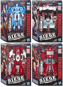 Transformers Generations War For Cybertron: Siege Deluxe Wave 2 Ironhide Chromia Prowl Six-Gun Action Figure