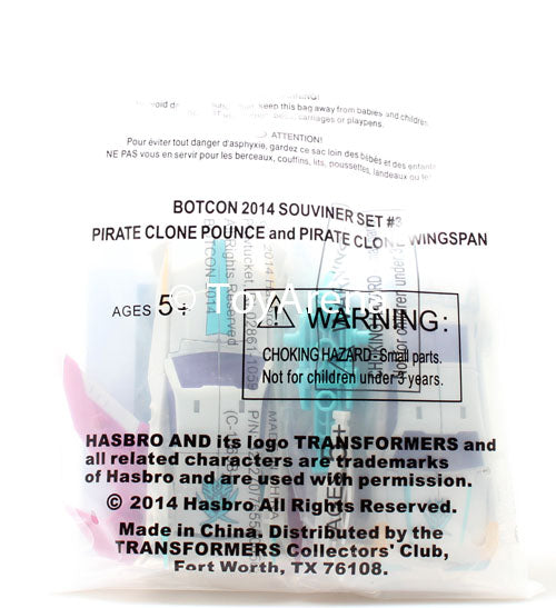 Botcon 2014 Transformers Exclusive Set #3 Pirate Clone Pounce and Pirate Clone Wingspan Action Figures Souvenir Set #3