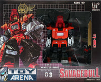 Unique Toys UT-W03 War Lord Savagebull 3 in 1 Robot Series No. 03