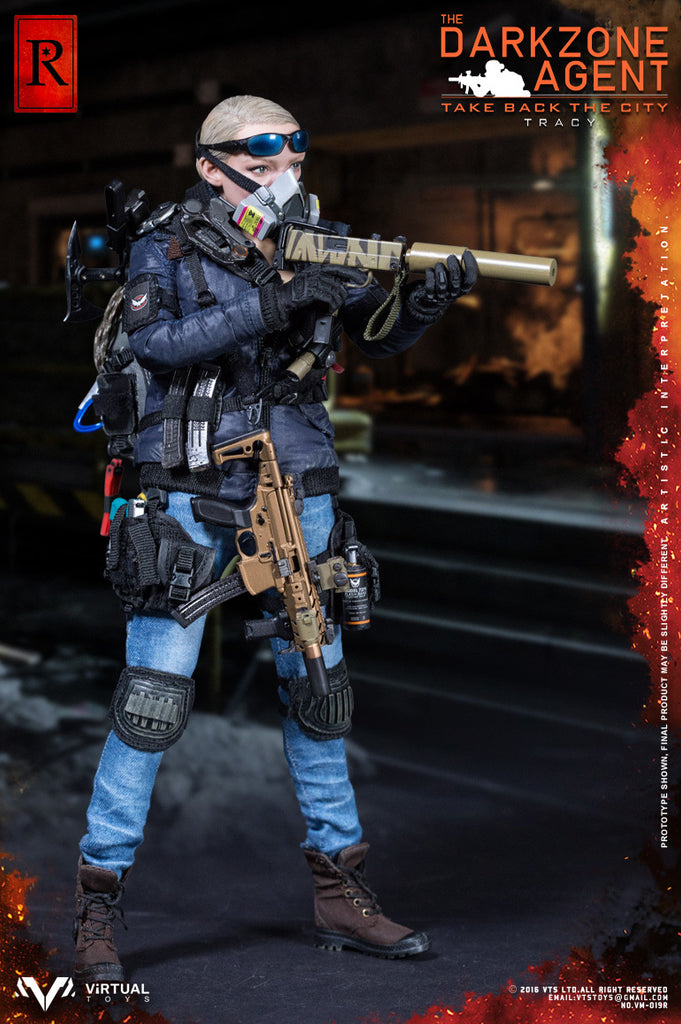 Virtual Toys (VTS) 1/6 VM-019R The Darkzone Agent Tracy (R Version) Action Figure