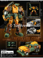Fansproject Warbot WB-004 Revolver Core Transformers Action Figure