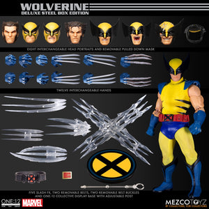 Mezco Toys ONE:12 Collective Wolverine Deluxe Steel Box Edition Action Figure