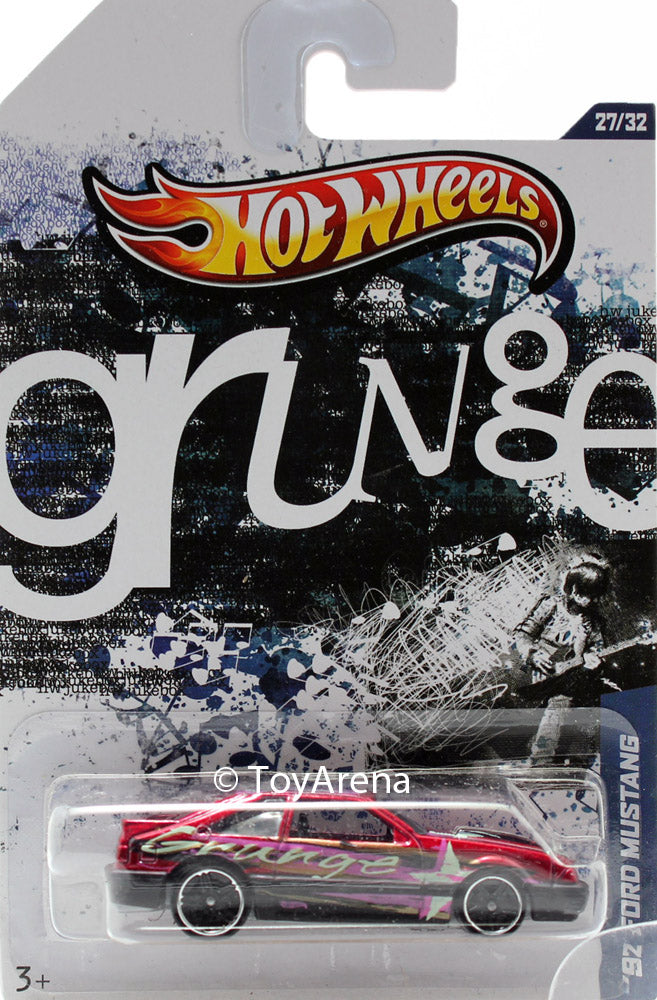Hot Wheels Grunge '92 Ford Mustang 1/64 Scale Die-Cast