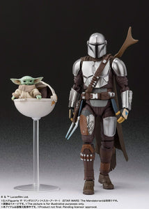 S.H. Figuarts Star Wars Mandalorian Beskar Metal Armor Ver. and The Child Set The Mandalorian Action Figure