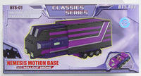 Transformers Classics BTS-01 Nemesis Prime Motion Base Shattered Glass (Purple Version)