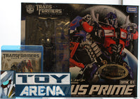 Transformers DOTM Exclusive Clear 1/35 Scale Optimus Prime DMK-01 Dual Model Kit w/ Blu Ray DVD Movie
