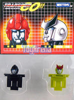 Transformers e-Hobby Ironhide & Ratchet Custom Heads Black and Green Version