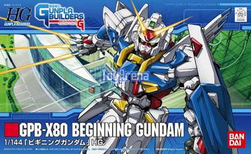 Gunpla Builders 1/144 HG #001 GPB-X80 Beginning Gundam Model Kit