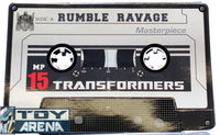 Transformers Masterpiece MP-15 Rumble & Ravage ( Coin Only )