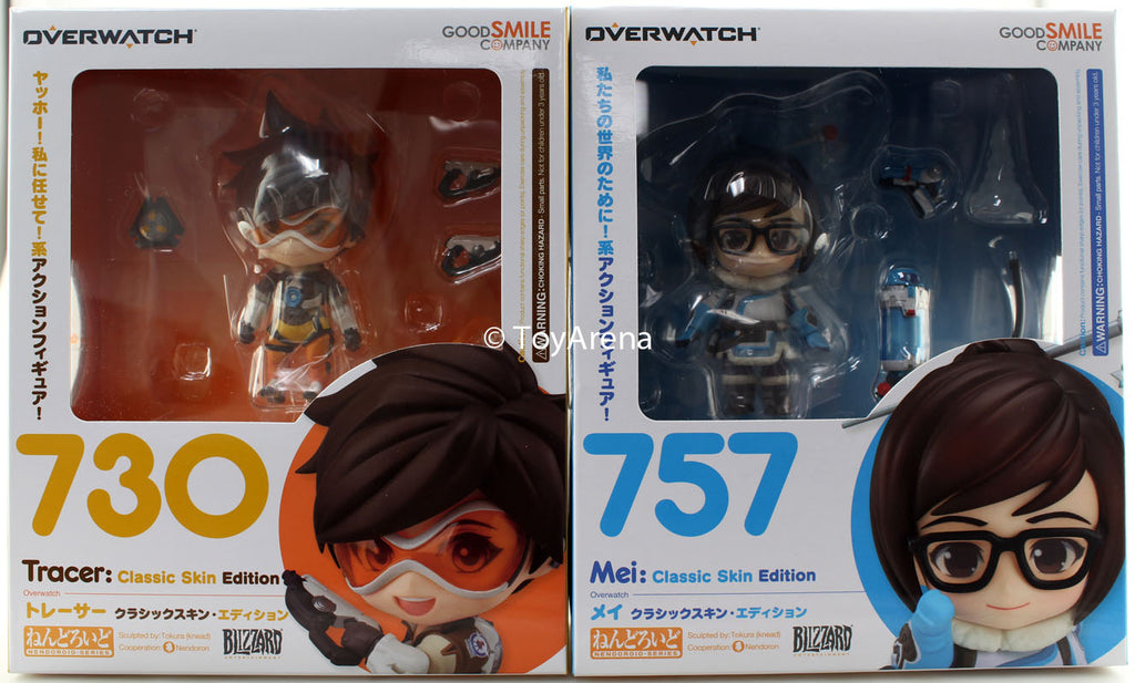 Nendoroid Overwatch Combo #757 Mei & #730 Tracer Classic Skin Edition