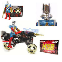 Microman 032 Magne Power Cassette Machines Cain with Sonic Bike