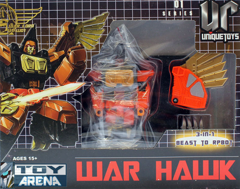 Unique Toys UT-W01 War Lord War Hawk 3 in 1 Robot Series No. 01