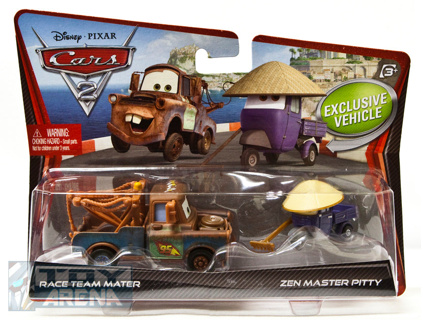 Disney Pixar Cars 2 Movie Race Team Mater and Zen Master Pitty 2-Pack
