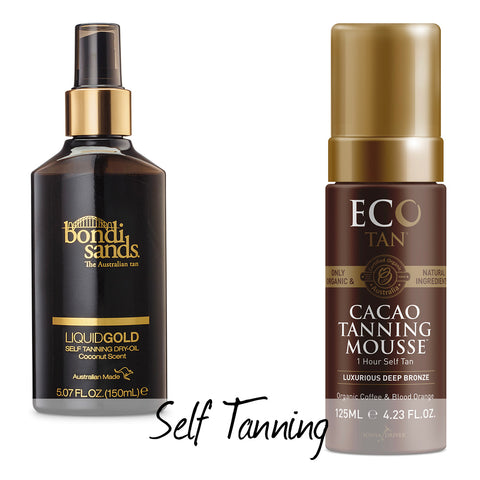 Self Tanning Bondi Sands and Eco Tan