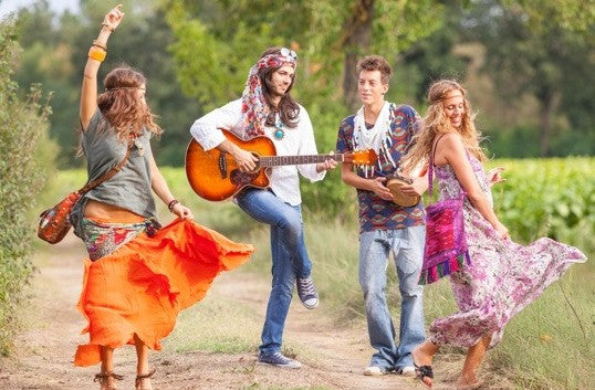 Hippies in a field
