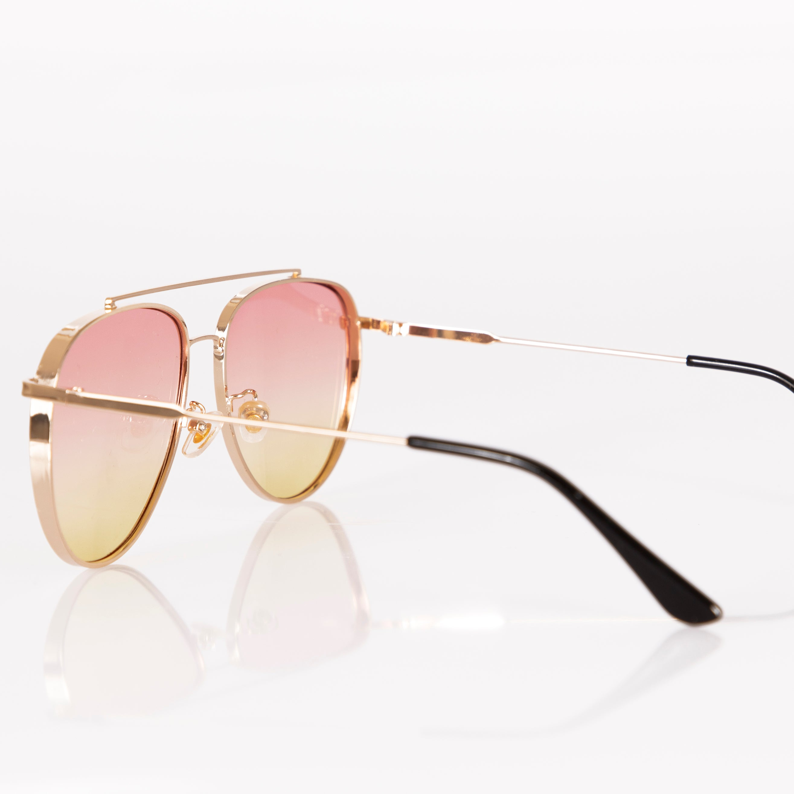 Angels Whisper Endless Summer Aviator Sunglasses Pink