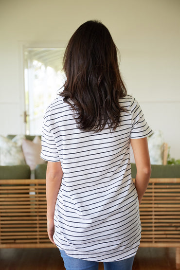 3rd Story Preston cotton T-Shirt in Stripe