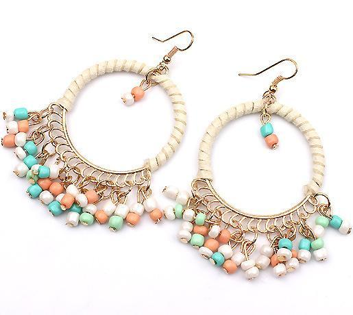 Boho Beaded Earrings - Multi Colour