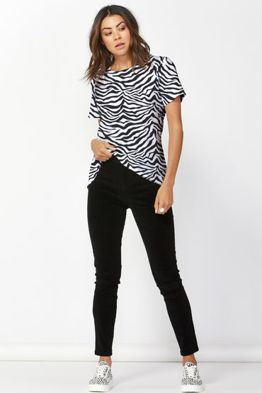 Betty Basics Cara Tee in Zebra Print SIZE 10 ONLY
