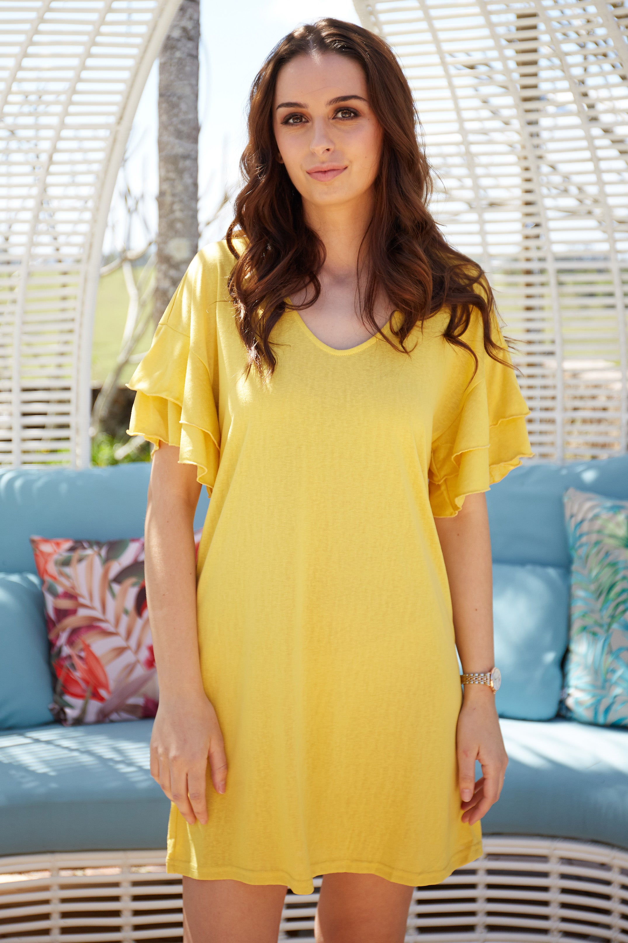 Betty Basics Sydney Dress in Daffodil Yellow