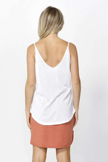 Betty Basics San Diego Two Way Cami in White