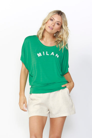 Betty Basics Maui Tee Update in Emerald