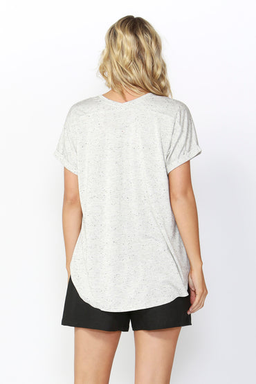 Betty Basics Adelaide Tee in Gold Fleck