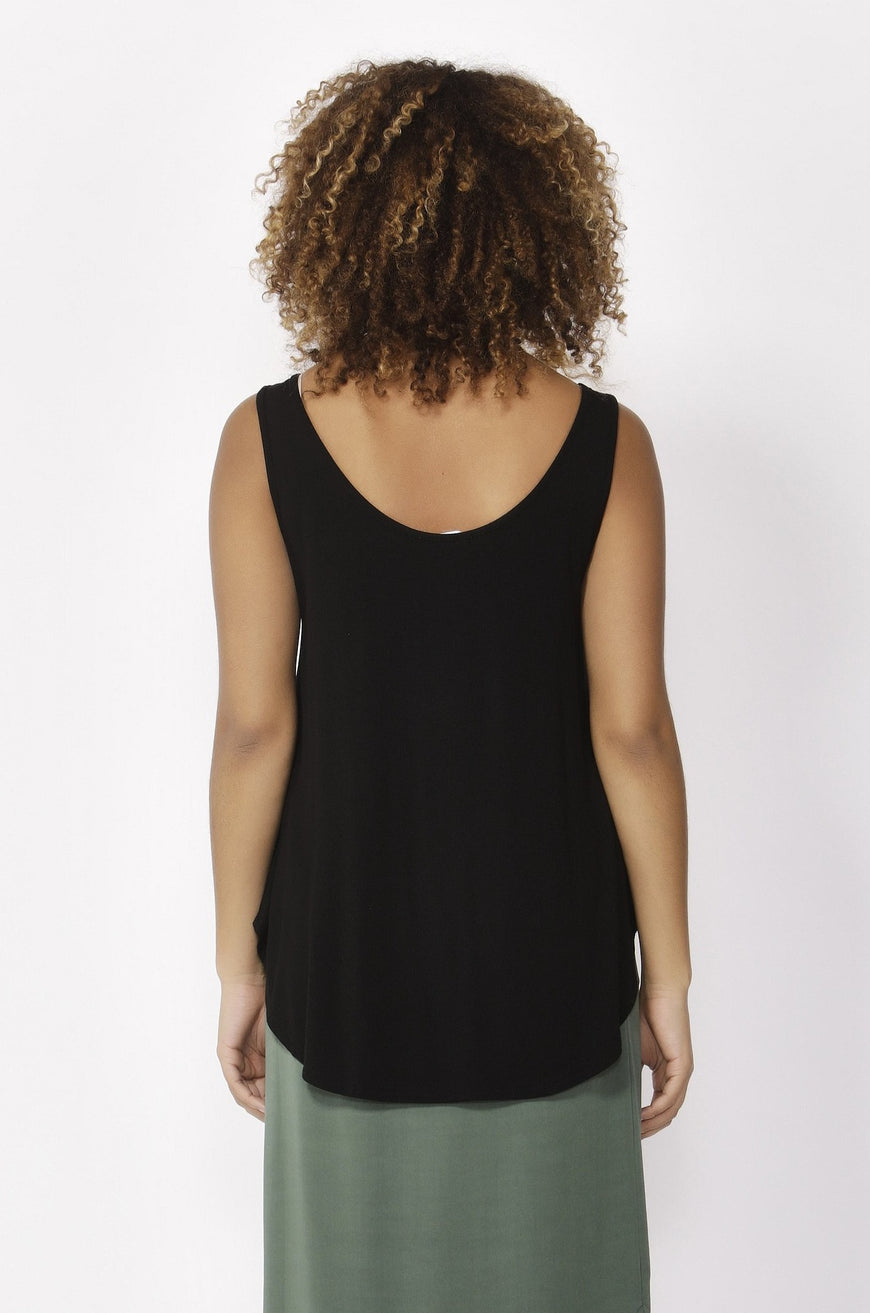Betty Basics Boston Tank Top in Black Size 8 or 10 Only