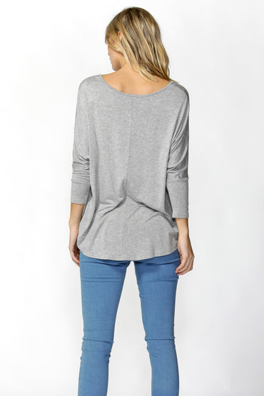 Betty Basics Milan Top in Grey