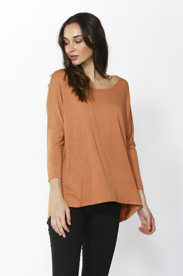 Betty Basics Milan Top in Spice Marle