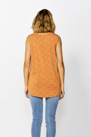 Betty Basics Capri Tank in Clay Spot