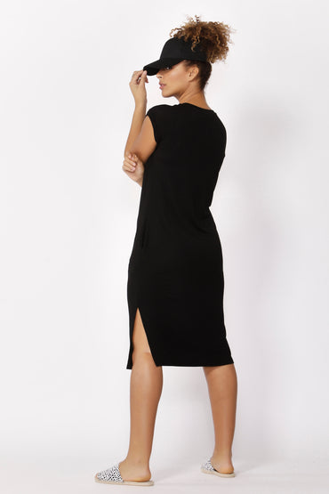 Betty Basics Hvar Midi Dress in Black Size 16 ONLY