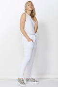 Betty Basics Saxon Sweat Pants in White
