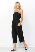Betty Basics Finn Linen Jumpsuit in Black